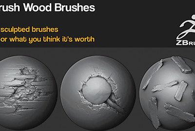 Zbrush – 20 Wood Brushes