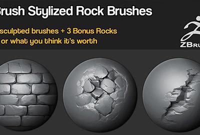 Zbrush – Stylized Rock Brushes